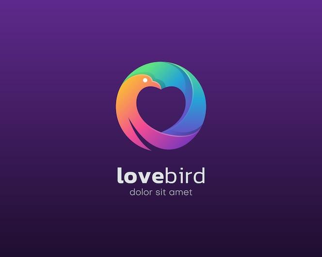 logo de pájaro de amor