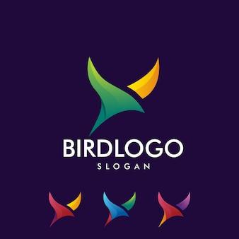 Logo de pájaro colorido