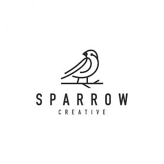 Logo de pájaro gorrión