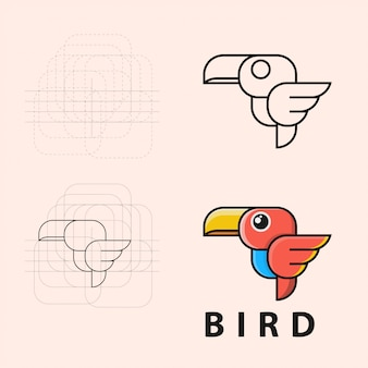 Logo de pájaro volador