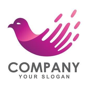 Logo de paloma rapida