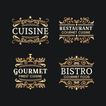 Logo de panadería con diseño retro
