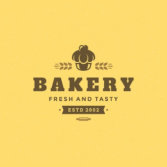 Logo de panadería retro