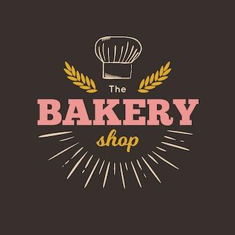 Logo de panadería vintage