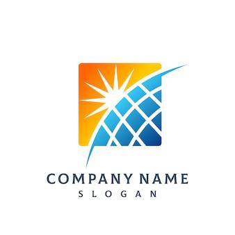 Logo panel solar