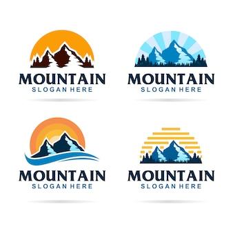 Logo de paquete de montaña