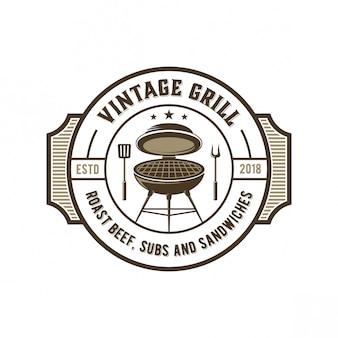 Logo de parrilla vintage