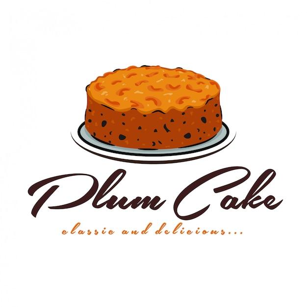 Logo de pastel de ciruela