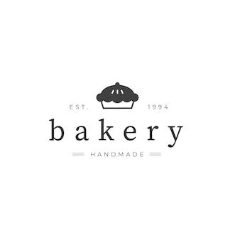 Logo de pastel de panadería