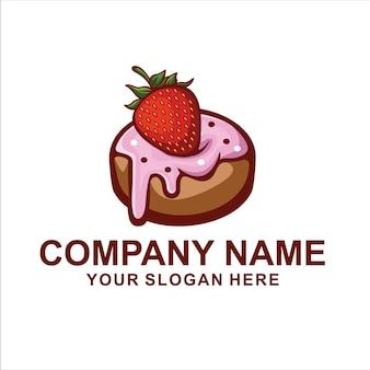 Logo de pastel de rosquilla