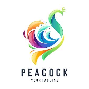 Logo de pavo real