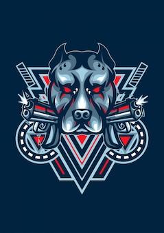 Logo de perro esport