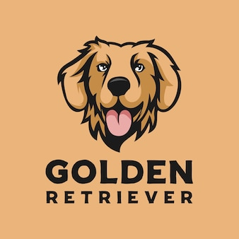 Logo de perro golden retriever