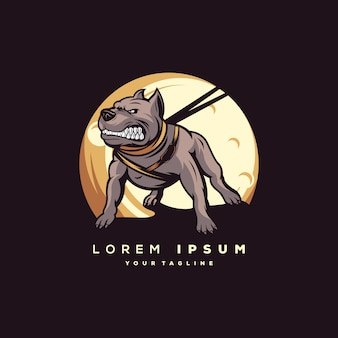 Logo de perro impresionante