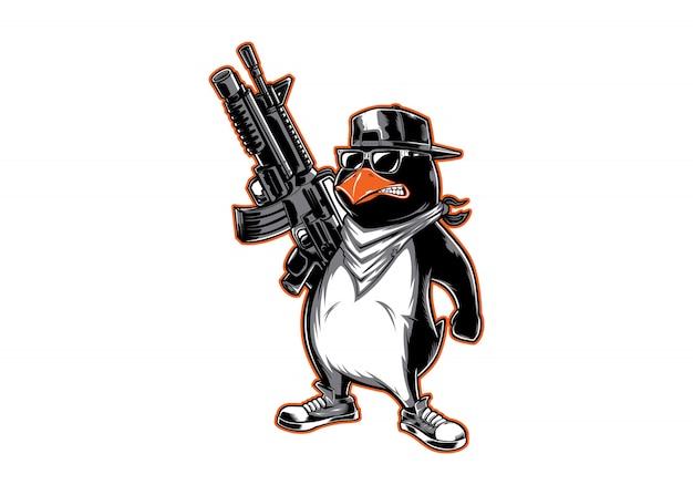 Logo de personaje pinguin