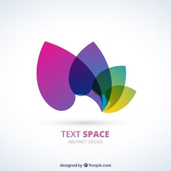 Logo con pétalos de colores