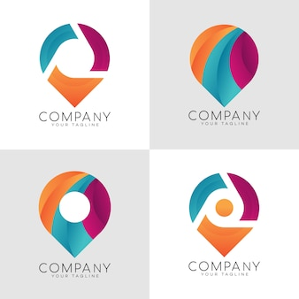 Logo de pin moderno
