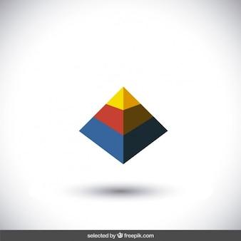 Logo pirámide colorida