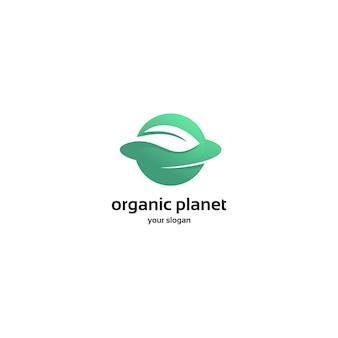 Logo de planeta orgánico verde