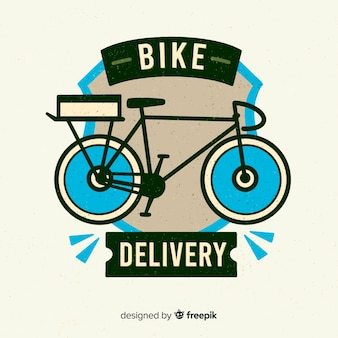 Logo plano reparto en bicicleta