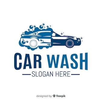 Logo plazo azul lavado de coches