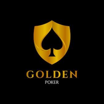 Logo de poker dorado