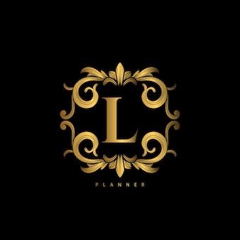 Logo premium de lujo con adorno