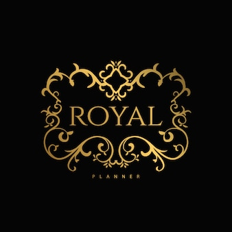 Logo premium de lujo con dorado