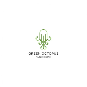Logo de pulpo verde