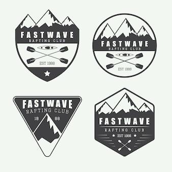 Logo de rafting vintage