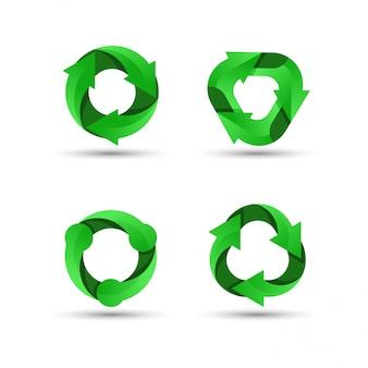 Logo de reciclaje verde