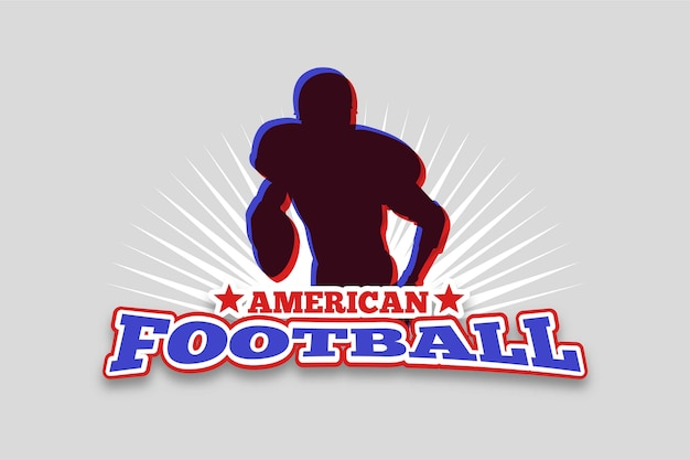 Logo retro de fútbol americano