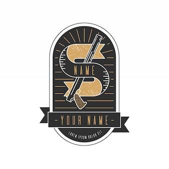 Logo retro de la mafia