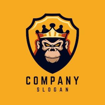 Logo de rey gorila