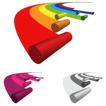 Logo roll rainbow