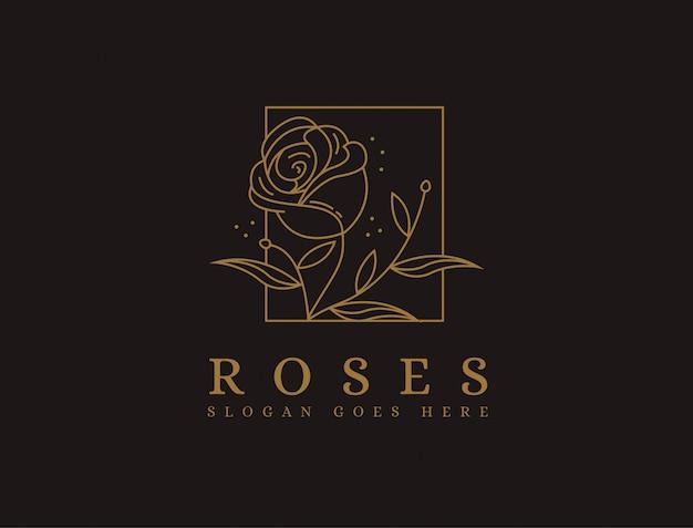 Logo rosa minimalista de lujo