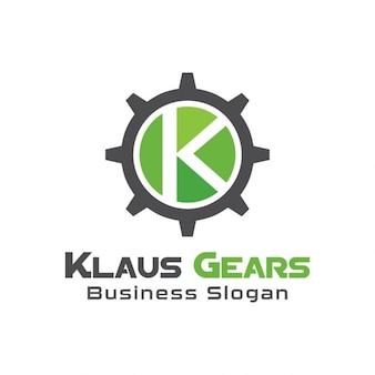 Logo con una rueda mecánica