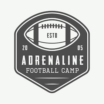 Logo de rugby y fútbol americano
