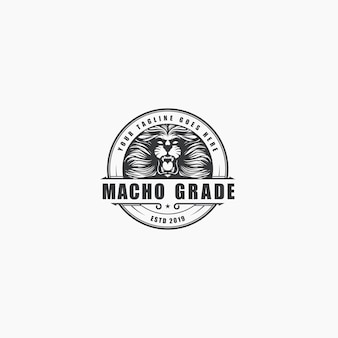 Logo de rugido de león de lujo vintage