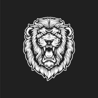 Logo rugiente de león