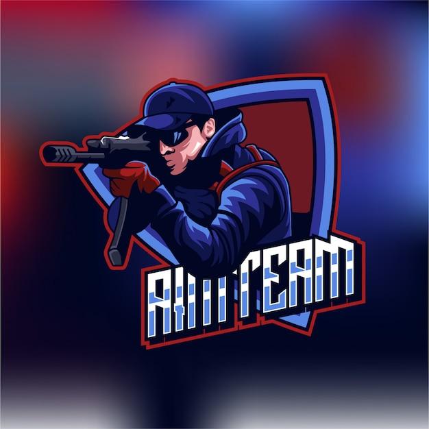 Logo shooter esports gaming