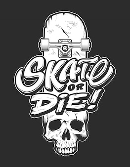 Logo de skateboarding deportivo vintage