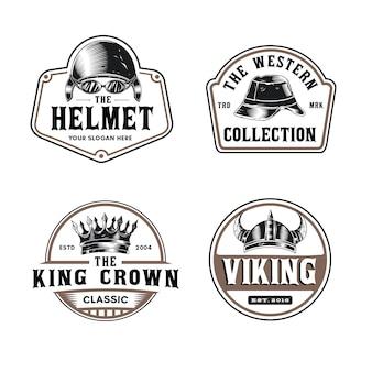 Logo de sombrero y casco