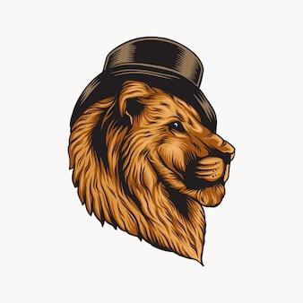 Logo de sombrero de león
