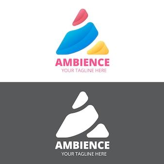 Logo stye abstracto en dos versiones