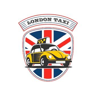 El logo de un taxi retro.