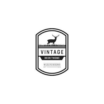Logo de tema vintage deer