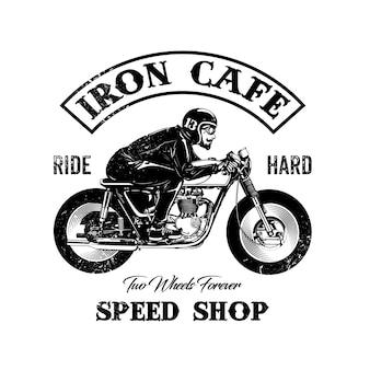 Logo de tienda con diseño de moto