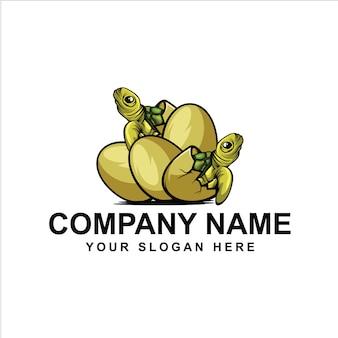 Logo de tortuga de huevo