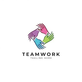 Logo de trabajo en equipo